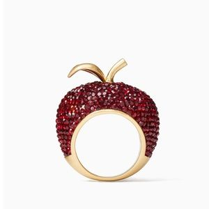 Kate Spade Dashing Beauty Apple Ring Size 5 NWT